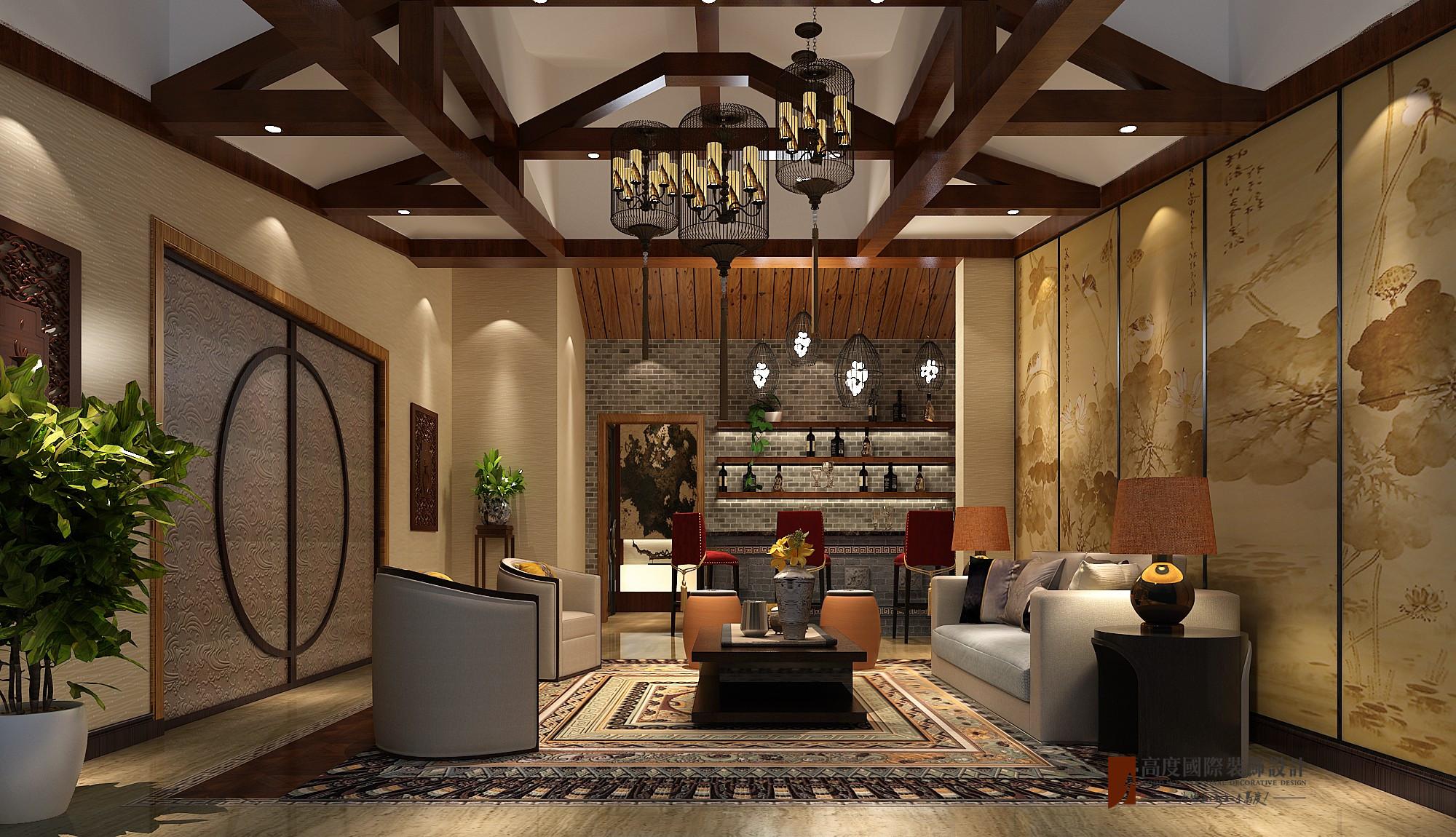 中式 别墅 复式 跃层 大户型 80后 小资 其他图片来自高度国际姚吉智在东方太阳城396平米中式禅意设计的分享