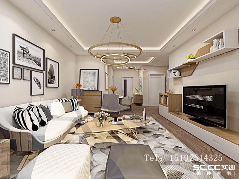 二居 简约 装修 实创 翠海宜居 客厅图片来自快乐彩在翠海宜居90平二居室现代的分享