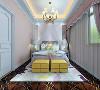 美式清新调,五居室,女儿房效果图赏析。