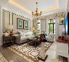 美式清新调,五居室,客厅沙发墙效果图赏析。