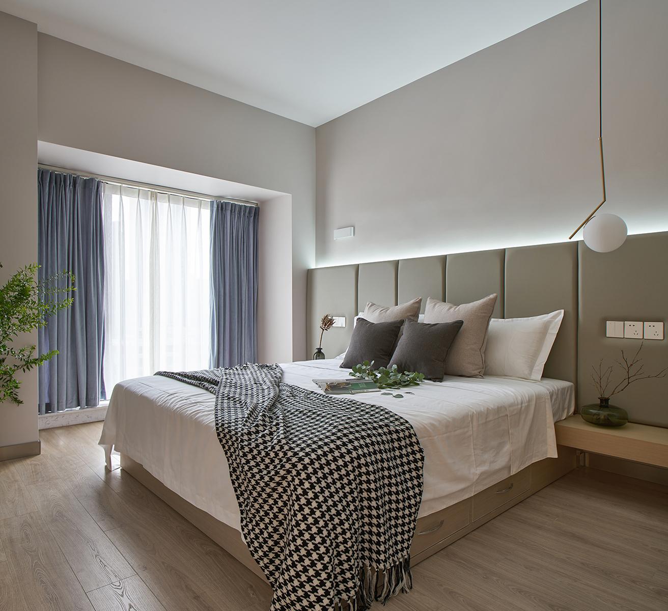 简约 三居 小资 卧室图片来自尚舍设计在归蜀的分享
