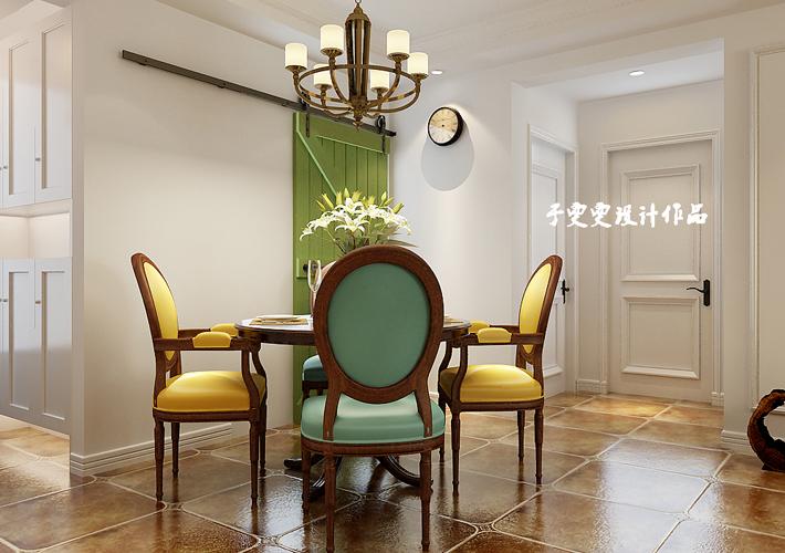 二居 奉天九里 餐厅图片来自百家设计小刘在奉天九里95平简美风格半包4万的分享