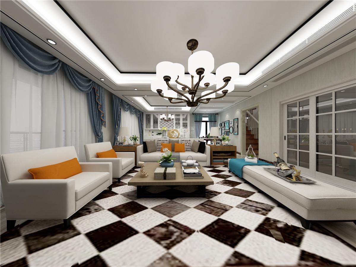 简约 复式 壹方中心 客厅图片来自名雕装饰设计在壹方中心玖誉-现代简约-复式的分享