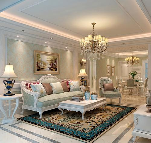 客厅图片来自装家美在复地东山国际246平米欧式风格的分享