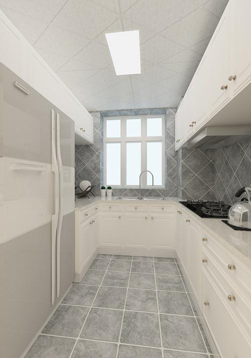 厨房图片来自装家美在复地东山国际246平米欧式风格的分享