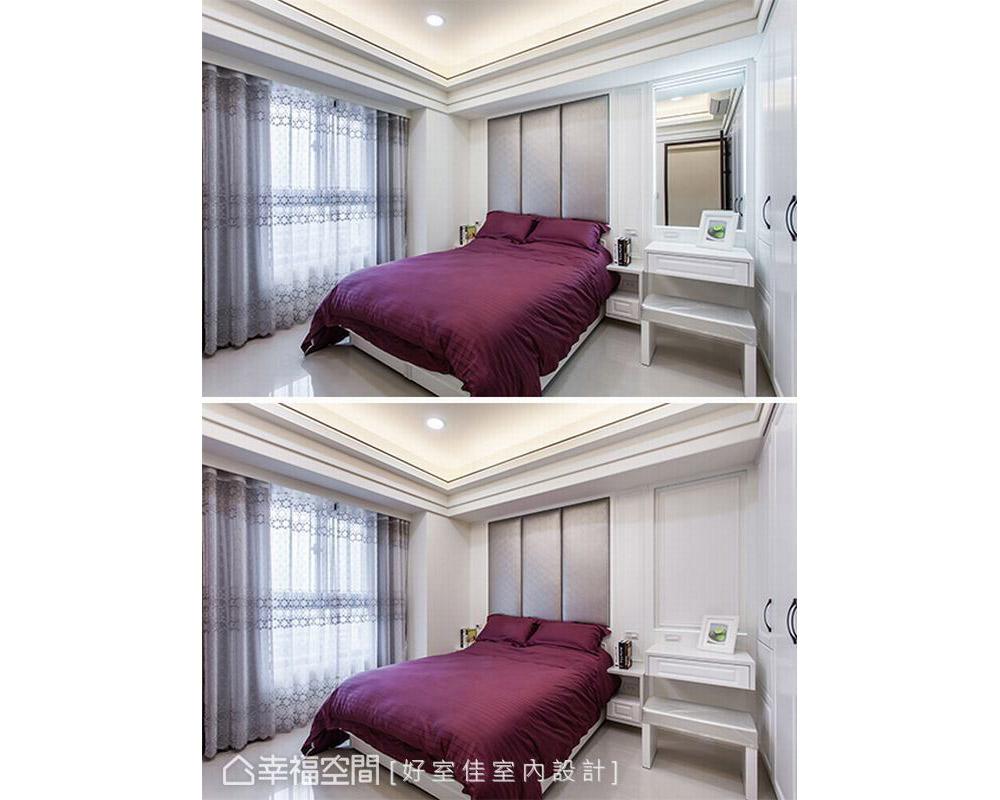 四居 新古典 卧室图片来自幸福空间在晶透光 89平时尚宅的分享