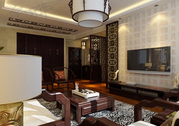 三居 二十四城 中式风格 客厅图片来自百家设计小刘在华润二十四城120平中式风格的分享
