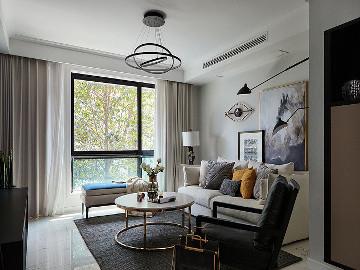 110平现代混搭3室 简洁利落舒适