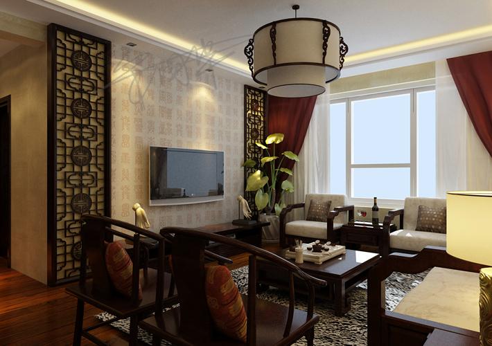 三居 二十四城 中式风格 餐厅图片来自百家设计小刘在华润二十四城120平中式风格的分享