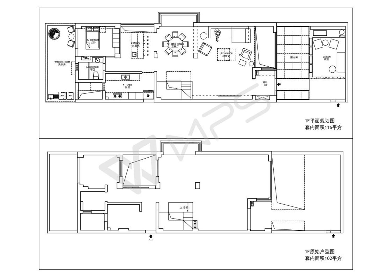 简约 混搭 三居 别墅 白领 收纳 80后 小资 户型图图片来自7KK DESIGN在如何把236平方改造成400平方使用的分享