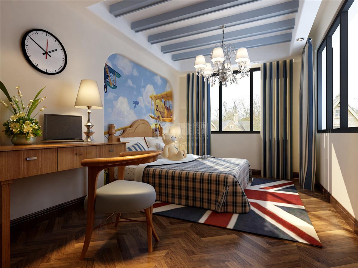 星河丹堤 新中式 儿童房图片来自名雕装饰设计在星河丹堤-新中式风格-别墅的分享