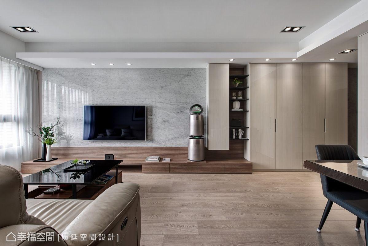 三居 现代简约 装修风格 设计风格 客厅图片来自幸福空间在93平 掌握比例,打造舒适生活!的分享