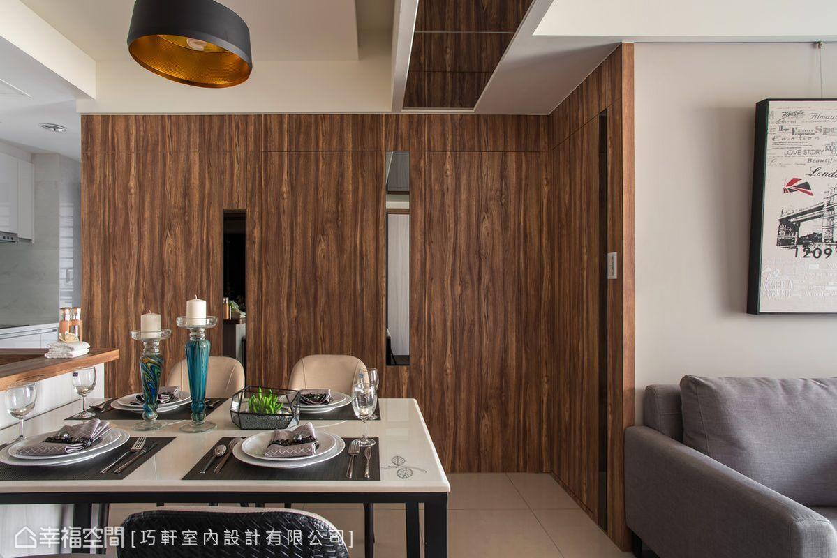 二居 样板房 装修风格 装修设计 设计作品 餐厅图片来自幸福空间在66平小户型也能有大宅享受的分享
