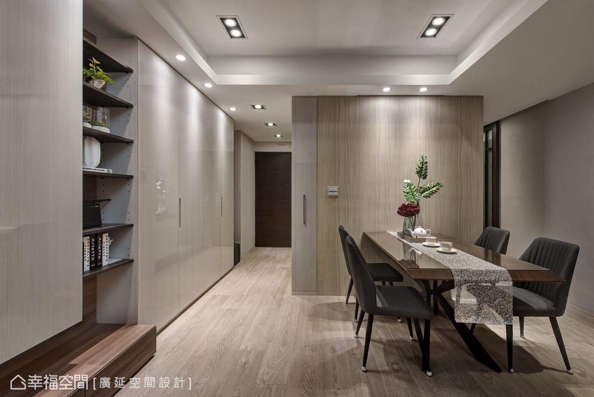 三居 现代简约 装修风格 设计风格 餐厅图片来自幸福空间在93平 掌握比例,打造舒适生活!的分享