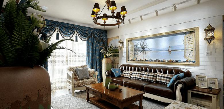 客厅图片来自家装大管家在唯美浪漫 110平田园风情雅致3居的分享