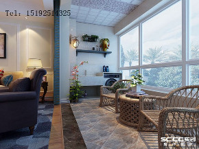三居室 实创 绍兴路 海信 美式 阳台图片来自快乐彩在海信·绍兴路66号三居室装修的分享