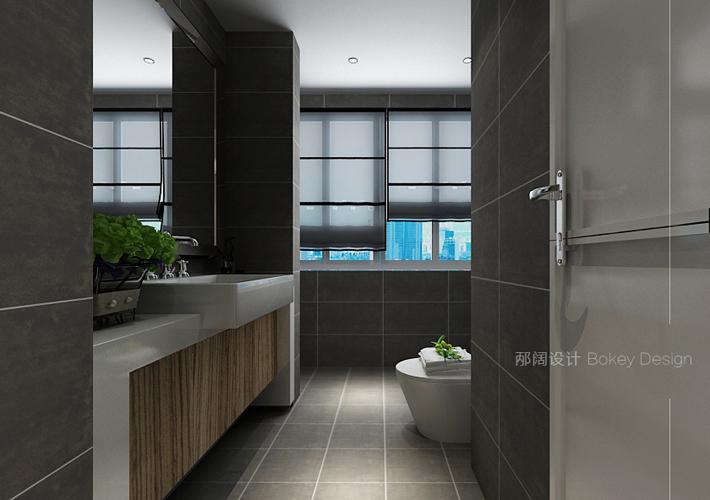 三居 奉天九里 现代风格 卫生间图片来自百家设计小刘在奉天九里143平现代风格装修案例的分享