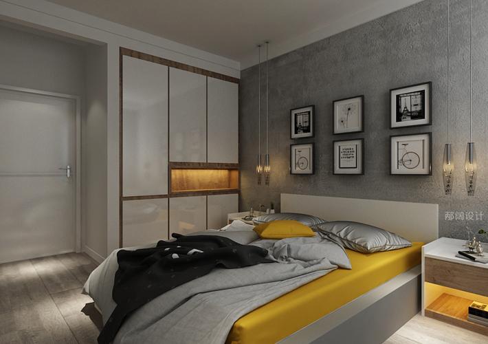三居 奉天九里 现代风格 卧室图片来自百家设计小刘在奉天九里143平现代风格装修案例的分享