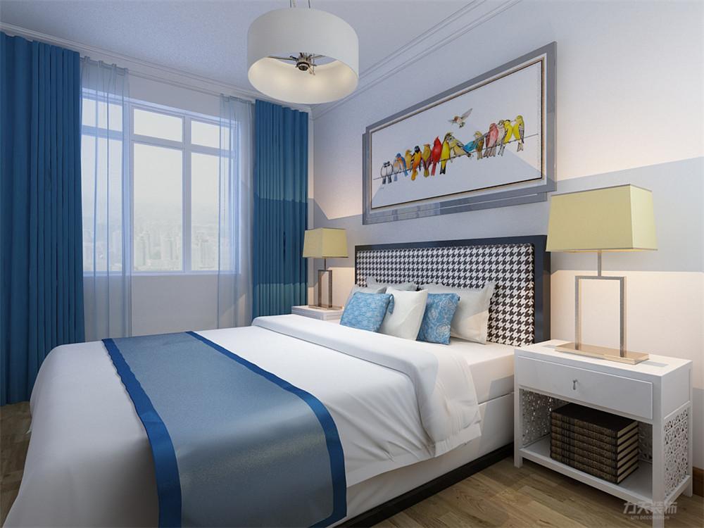 三居 白领 收纳 80后 小资 卧室图片来自阳光力天装饰在力天装饰 汇和家园 115㎡ 新中式的分享