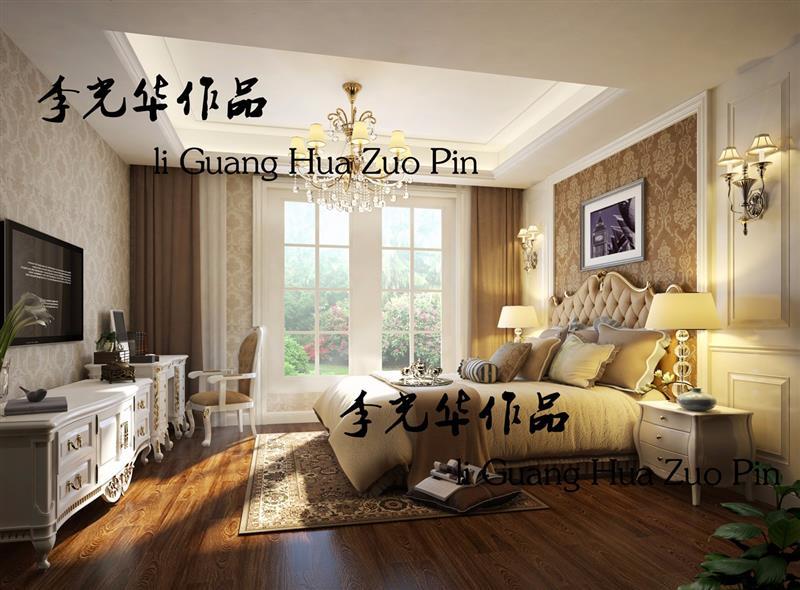 简约 欧式 卧室图片来自成都二十四城装饰公司在简欧风格装修案例的分享
