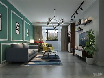 力天装饰 深蓝公寓 80㎡ 北欧