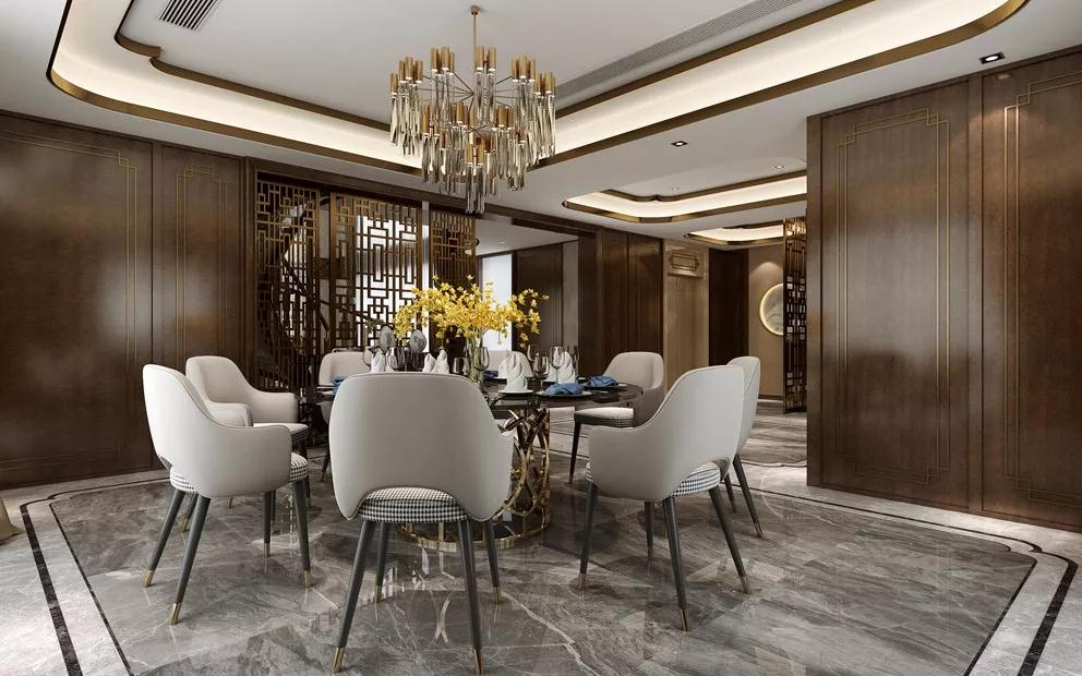 别墅 新中式图片来自重庆装修优家馆装饰官网在这样的新中式,简直气质非凡!的分享