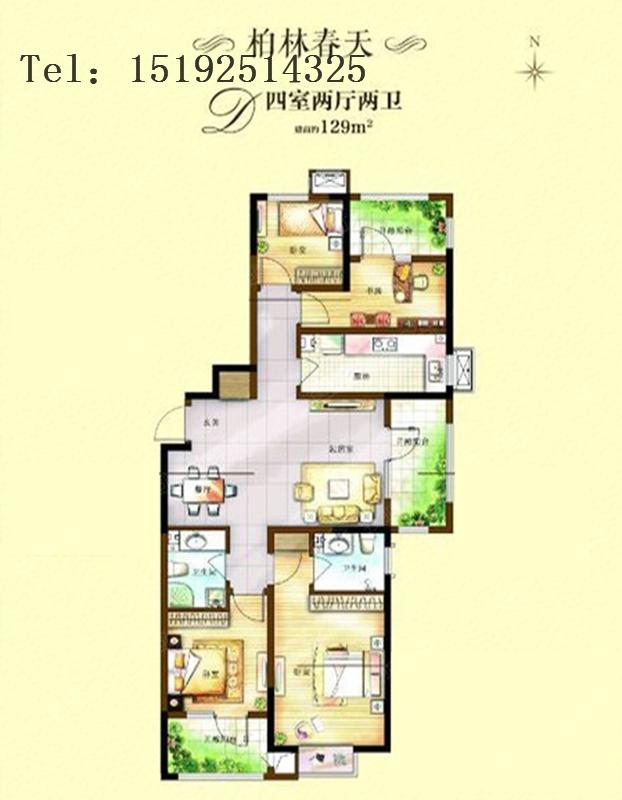 中式 三居 实创 卓越 蔚蓝群岛 户型图图片来自快乐彩在卓越蔚蓝群岛129平三居室的分享