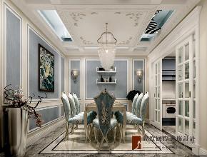 新古典 法式 别墅 跃层 复式 大户型 80后 小资 餐厅图片来自高度国际姚吉智在八达岭孔雀城300平米法式新古典的分享