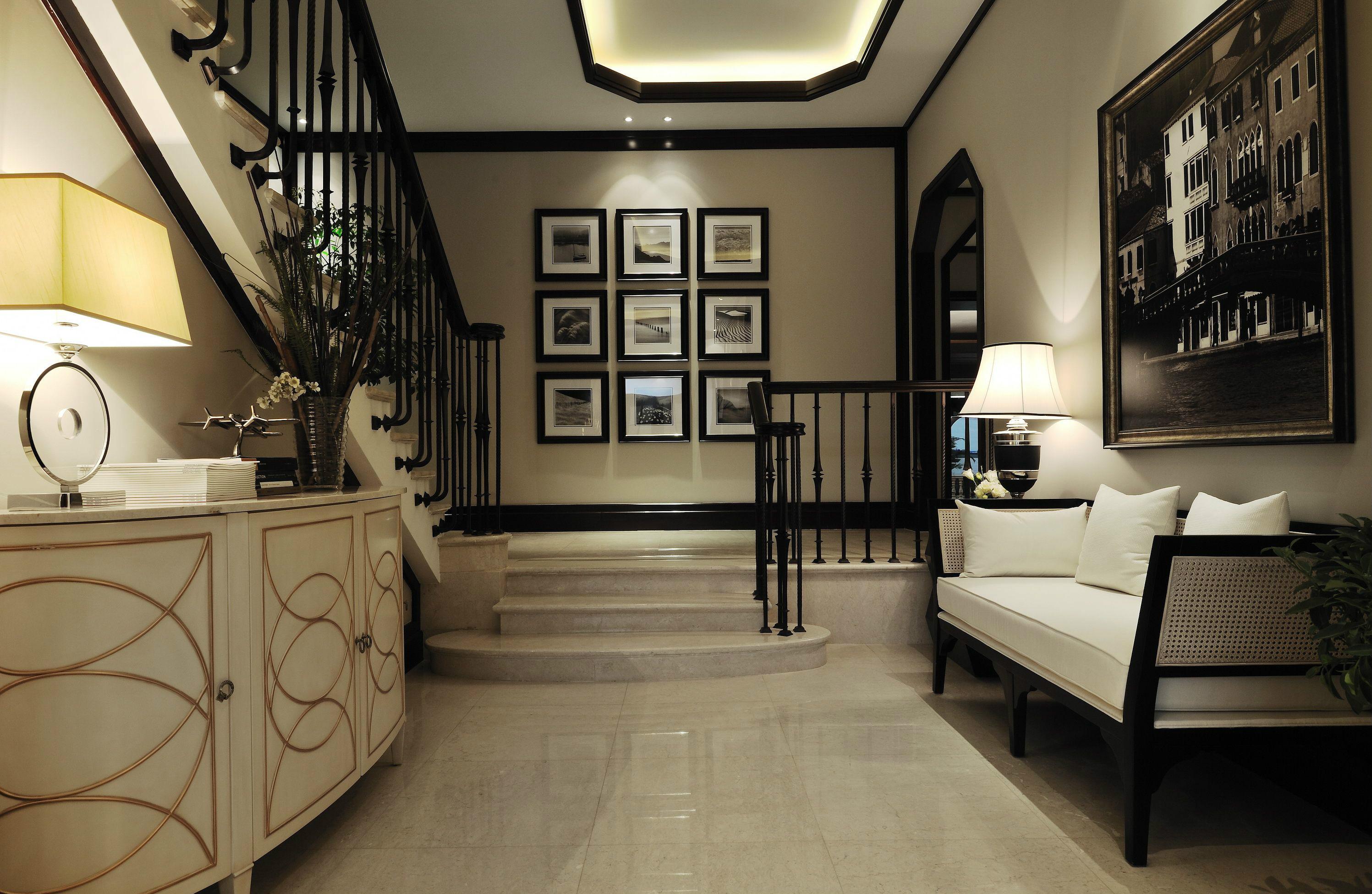 别墅装修 别墅设计 紫禁壹号院 美式风格 联排别墅 别墅 楼梯图片来自北京高度国际在联排别墅优雅美式风格的分享