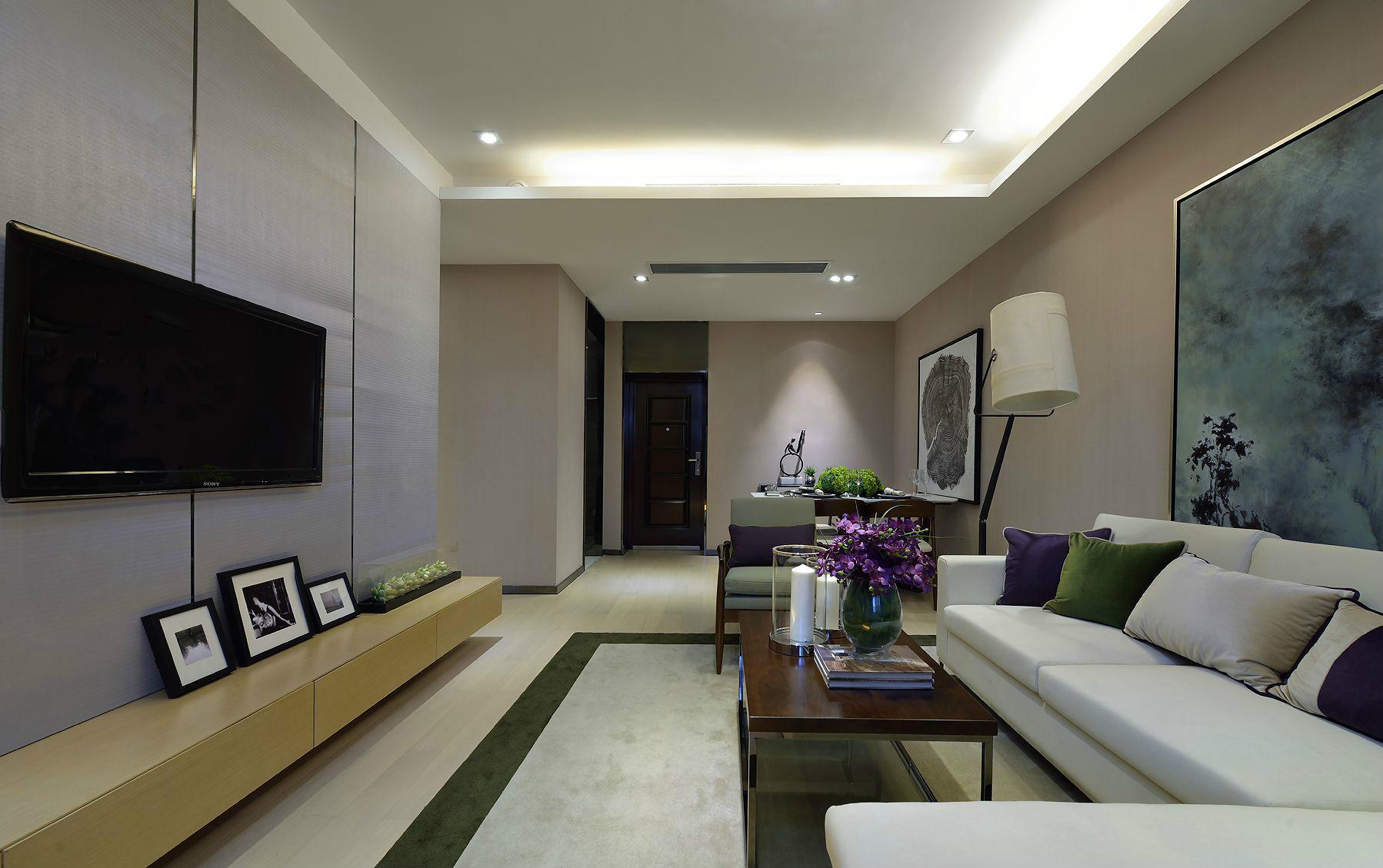简约 现代 三居 大户型 复式 跃层 80后 小资 白领 客厅图片来自高度国际姚吉智在140平米现代简约三居向往的生活的分享