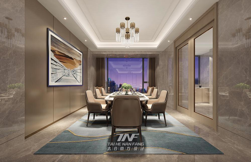 别墅 现代 餐厅图片来自王五平设计在深圳香山美墅豪宅设计-现代轻奢的分享