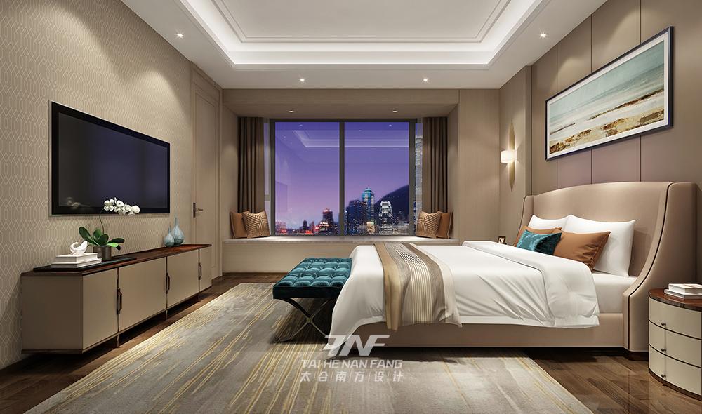 别墅 现代 卧室图片来自王五平设计在深圳香山美墅豪宅设计-现代轻奢的分享