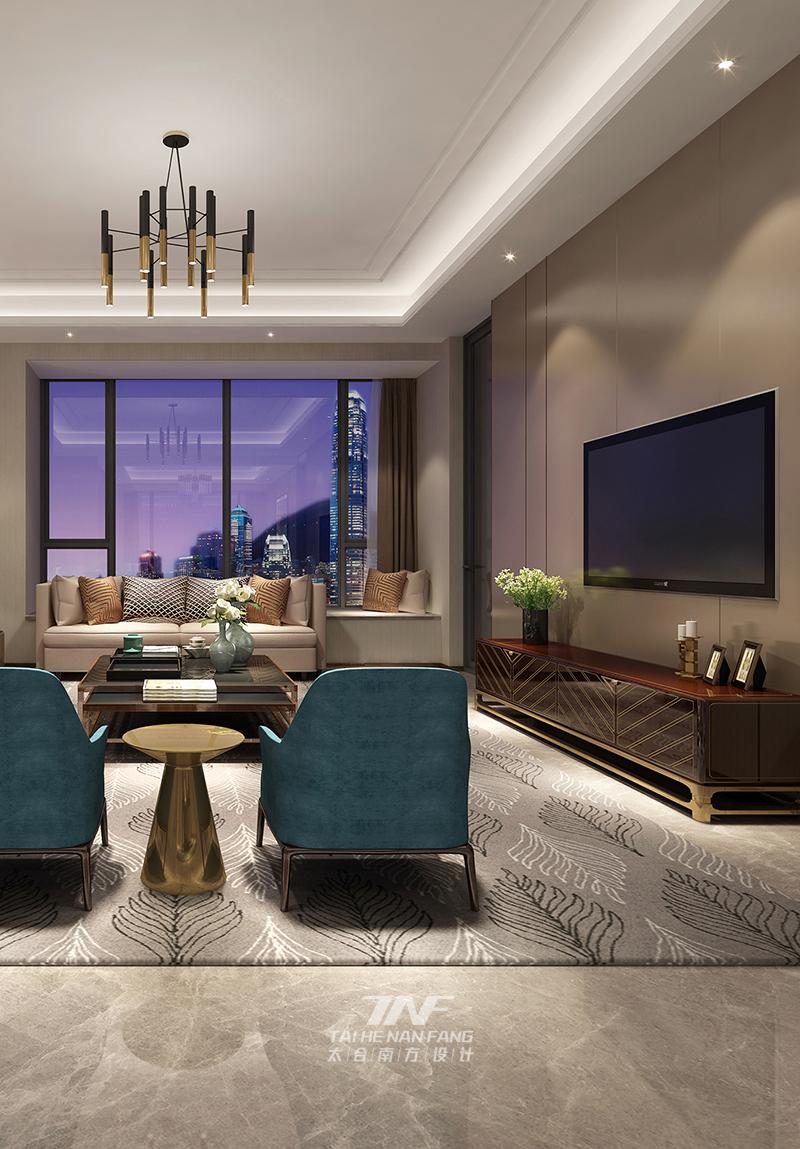 别墅 现代 客厅图片来自王五平设计在深圳香山美墅豪宅设计-现代轻奢的分享