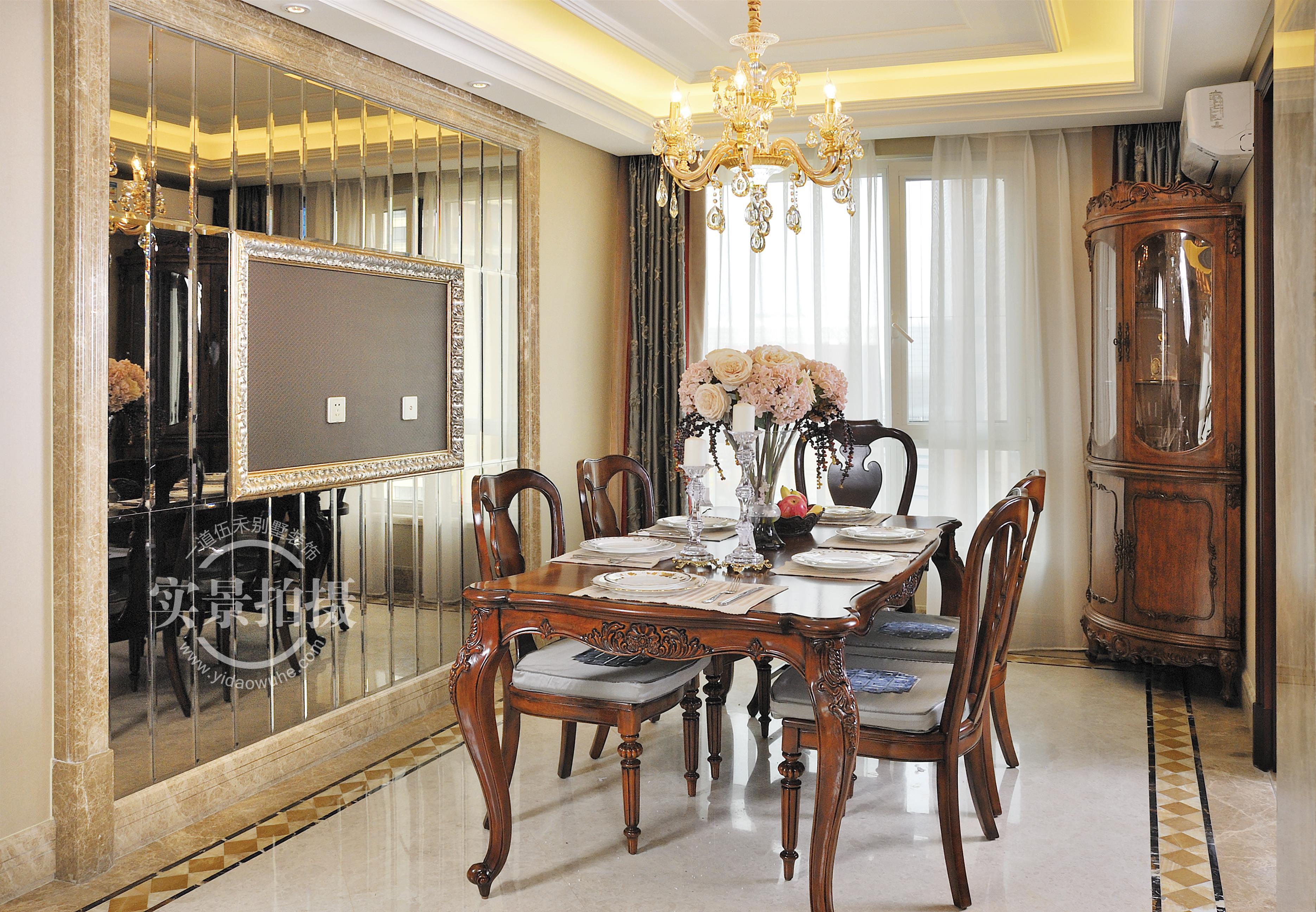 简约 法式风格 三居 餐厅图片来自别墅设计师杨洋在古典华贵法式--橡树湾装修设计的分享