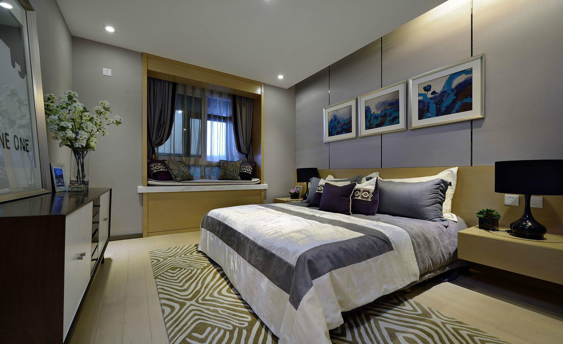 简约 现代 三居 大户型 复式 跃层 80后 小资 白领 卧室图片来自高度国际姚吉智在140平米现代简约三居向往的生活的分享