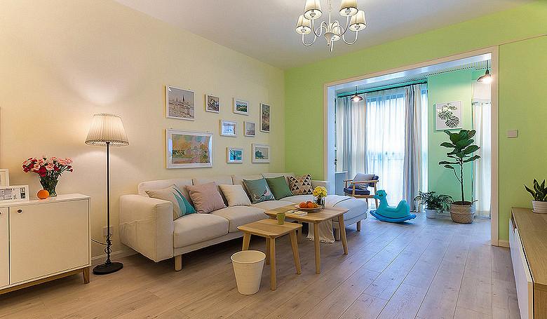 客厅图片来自家装大管家在温馨舒适 96平现代简约雅致3居的分享