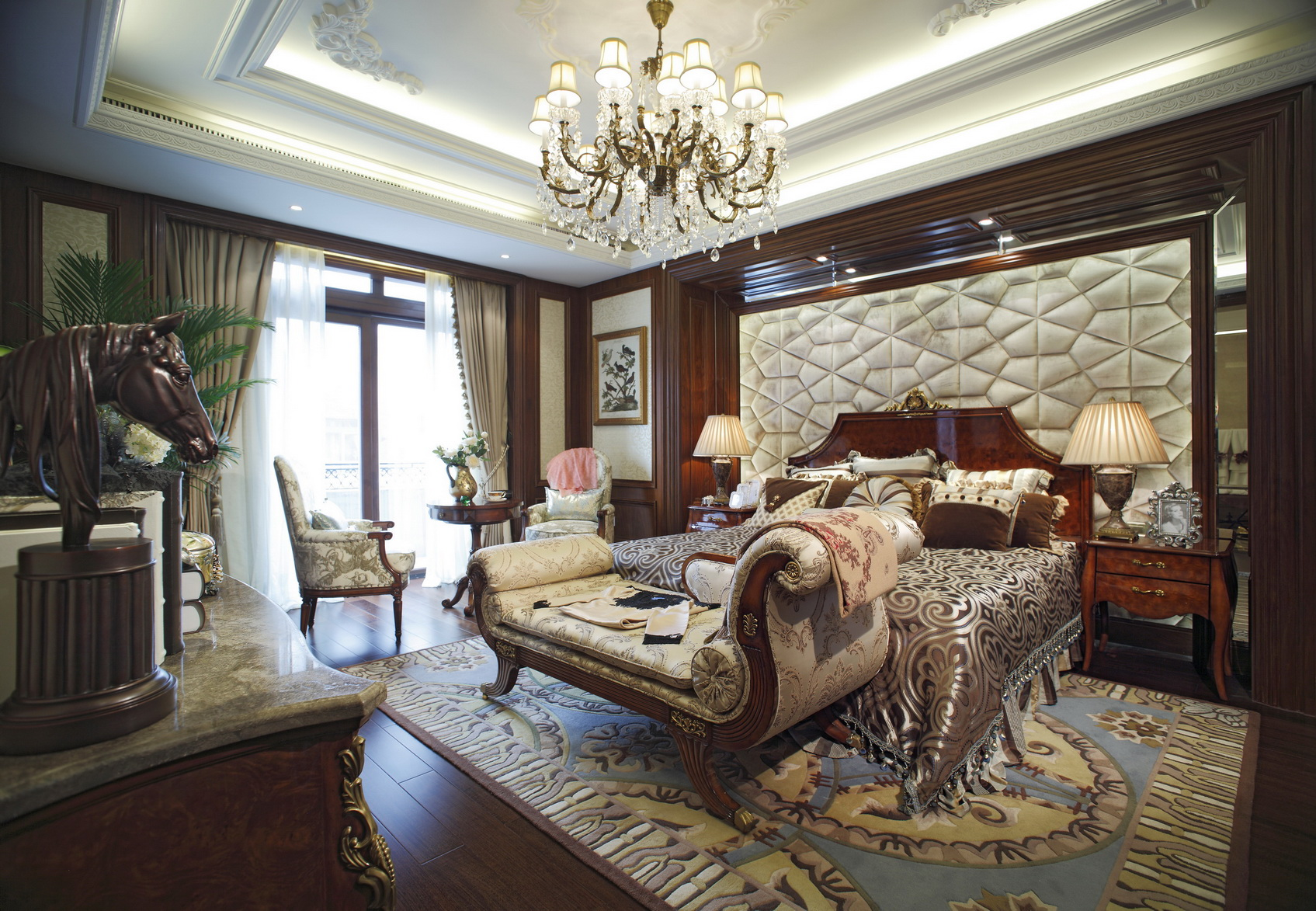 别墅装修 别墅设计 别墅 美式风格 卧室图片来自北京高度国际在美式豪华别墅设计的分享