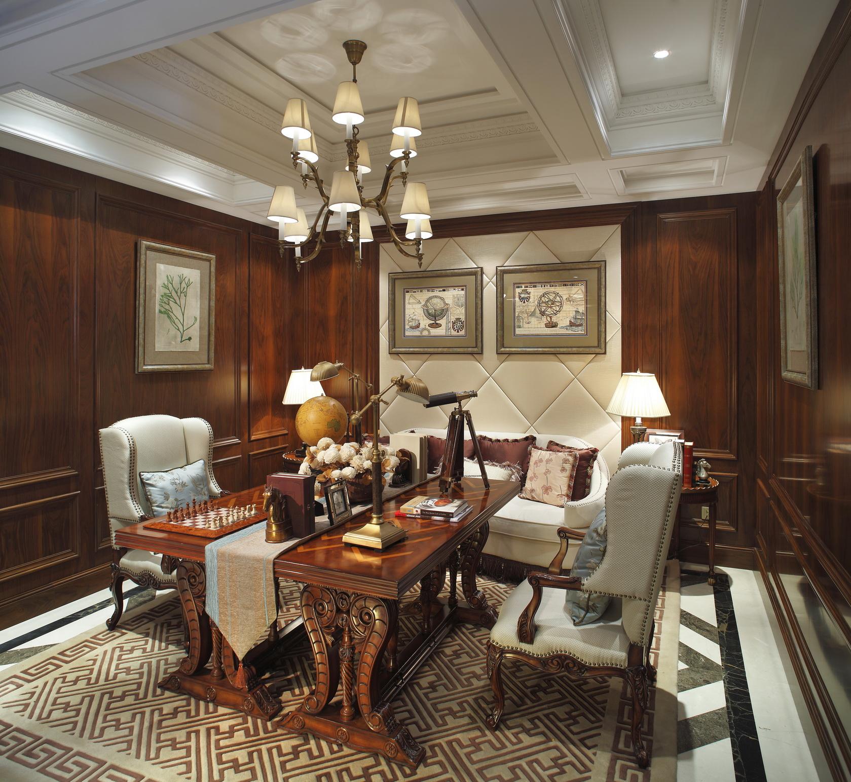 别墅装修 别墅设计 别墅 美式风格 餐厅图片来自北京高度国际在美式豪华别墅设计的分享