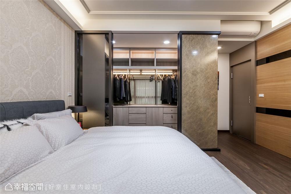 四居 现代简约 装修风格 装修设计 室内设计 卧室图片来自幸福空间在139平!经典不败好感加乘!的分享