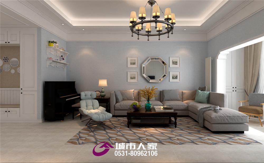 简约 欧式 客厅图片来自济南城市人家装修公司-在长清原香溪谷美式风格装修效果图的分享