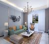 电视背景墙采用石膏板做的几何造型,既简单又大方,配上顶部的灯光,渲染出整个客厅和其它房间的层次感 适度的装饰使家居不缺乏现代气息。