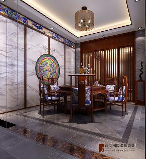 中式 别墅 跃层 复式 大户型 小资 北京院子 餐厅图片来自高度国际姚吉智在北京院子500平米中式独院的分享