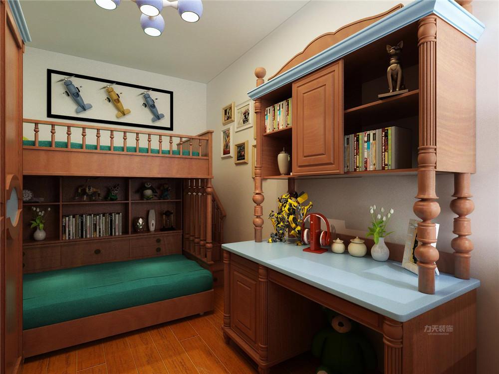 收纳 80后 二居 卧室图片来自阳光力天装饰在【力天装饰】龙湖公寓 80㎡ 美式的分享