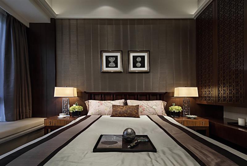 中式 卧室图片来自成都二十四城装饰公司在传递中式神韵-新东方风格的分享