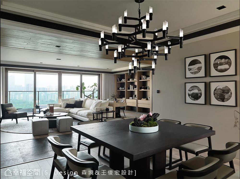 四居 现代风格 小资 装修风格 设计风格 居家风格 餐厅图片来自幸福空间在230平!福田旅居,敞心驿站!的分享