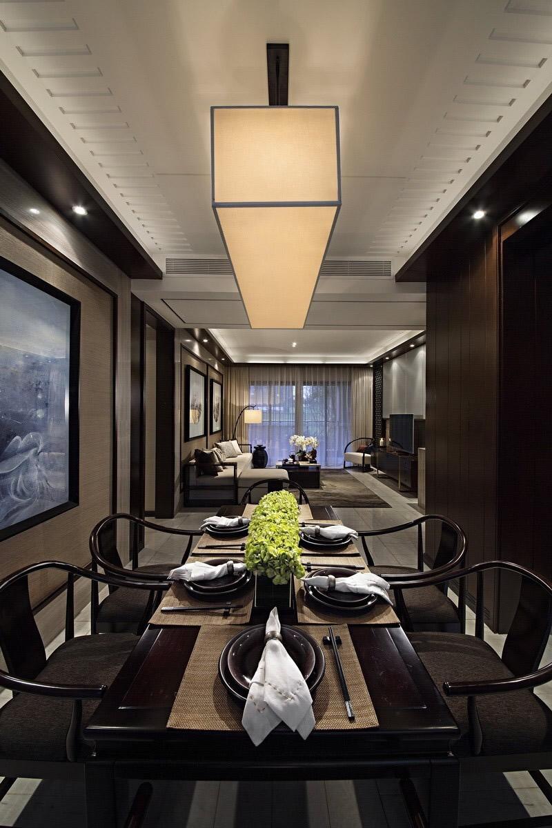 中式 餐厅图片来自成都二十四城装饰公司在传递中式神韵-新东方风格的分享