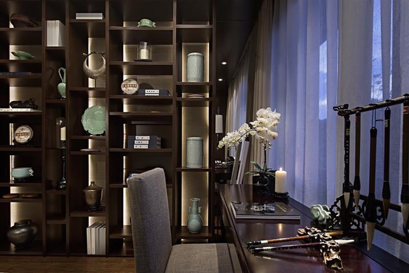 中式 书房图片来自成都二十四城装饰公司在传递中式神韵-新东方风格的分享
