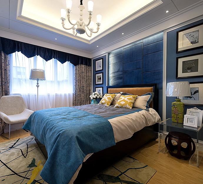 """现代 简约 卧室图片来自成都二十四城装饰公司在寻觅梦中的""""海洋之心""""的分享"""