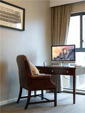美式 三居 四居 大户型 跃层 复式 别墅 小资 书房图片来自高度国际姚吉智在189平米现代美式舒适时尚的浪漫的分享