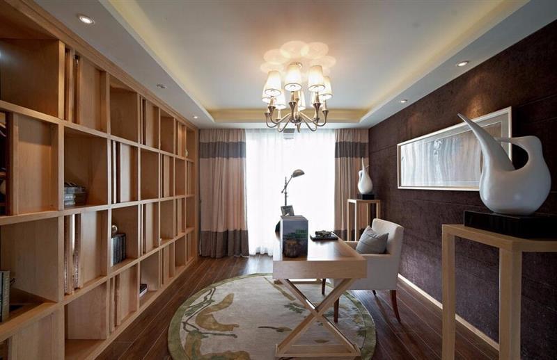 混搭 三居 人居东御佲 书房图片来自成都二十四城装饰公司在休闲舒适混搭主义的分享